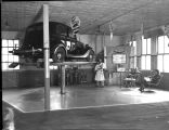 Automobile on hydraulic lift