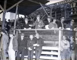 Auctioneers at a cattle auction