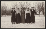Five Seaman family women standing in snow