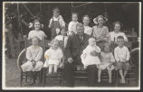 Group picture of Nelson kids and Grandpa Seaman