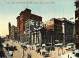 16th and Farnam Streets, looking West, Omaha, Nebr.