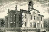 Architect's drawing of Dodge Street School